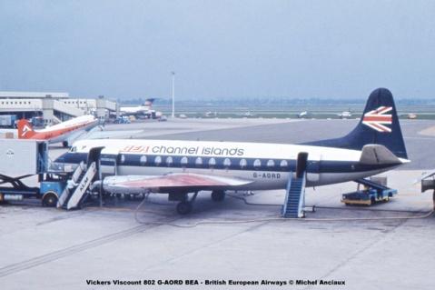1015 Vickers Viscount 802 G-AORD BEA - British European Airways © Michel Anciaux