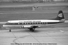 1016 Vickers 802 Viscount 802 G-AOJC BEA - British European Airways © Michel Anciaux