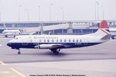 1018 Vickers Viscount 806 G-AOYL British Airways © Michel Anciaux