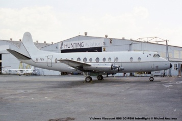 1023 Vickers Viscount 806 3C-PBH Interflight © Michel Anciaux