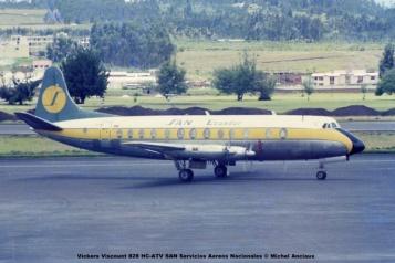1027 Vickers Viscount 828 HC-ATV SAN Servicios Aereos Nacionales © Michel Anciaux