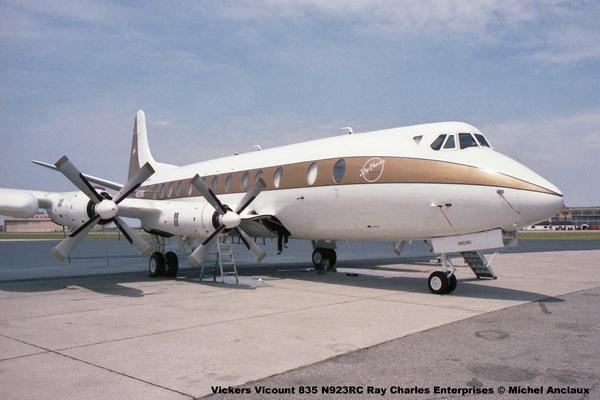 1058 Vickers Vicount 835 N923RC Ray Charles Enterprises © Michel Anciaux