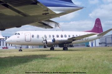1063 Vickers Viscount 836 G-BFZL ex British World Airlines © Michel Anciaux