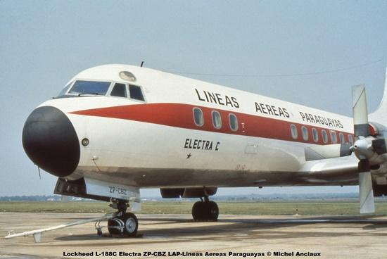 16 Lockheed L-188C Electra ZP-CBZ LAP-Lineas Aereas Paraguayas © Michel Anciaux