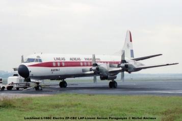 19 Lockheed L-188C Electra ZP-CBZ LAP-Lineas Aereas Paraguayas © Michel Anciaux