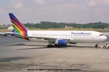 img1067 Boeing 767-2Q4 PT-TAB Transbrasil © Michel Anciaux