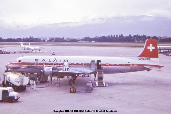 img139 Douglas DC-6B HB-IBU Balair © Michel Anciaux