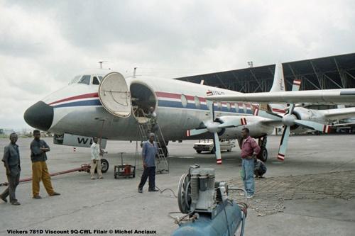 img194 Vickers 781D Viscount 9Q-CWL Filair © Michel Anciaux