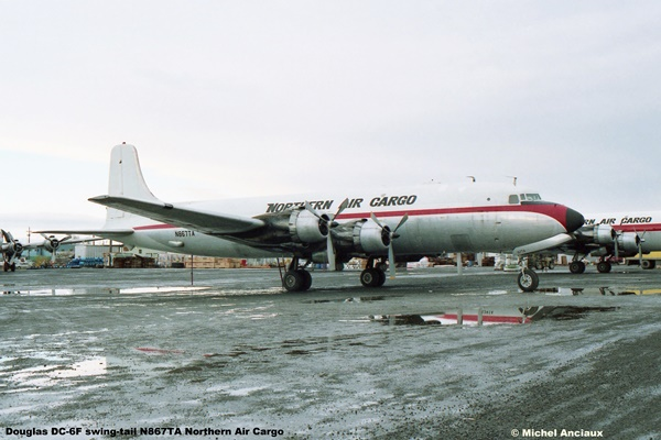 img332 Douglas DC-6F swing-tail N867TA Northern Air Cargo © Michel Anciaux