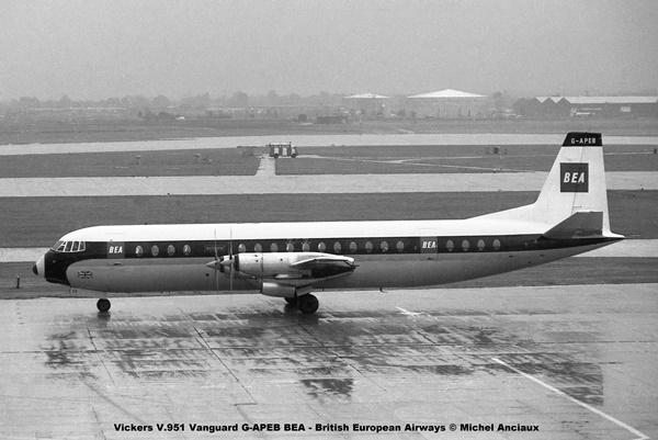img510 Vickers V.951 Vanguard G-APEB BEA - British European Airways © Michel Anciaux