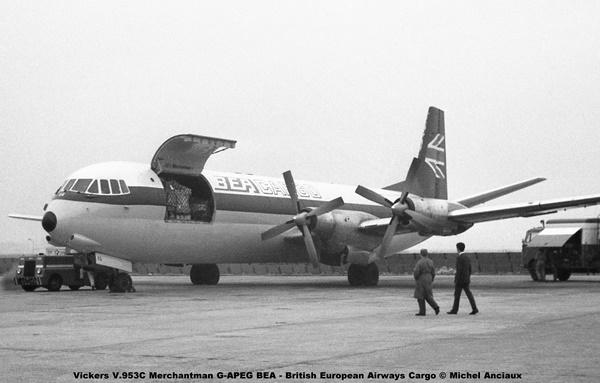 img598 Vickers V.953C Merchantman G-APEG BEA - British European Airways Cargo © Michel Anciaux