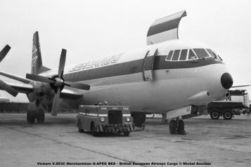 img599 Vickers V.953C Merchantman G-APEG BEA - British European Airways Cargo © Michel Anciaux