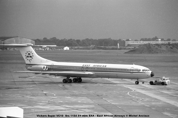 img822 Vickers Super VC10 Srs 1154 5Y-ADA EAA - East African Airways © Michel Anciaux