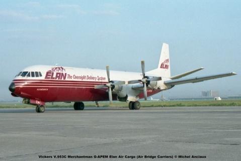 img842 Vickers V.953C Merchantman G-APEM Elan Air Cargo (Air Bridge Carriers) © Michel Anciaux