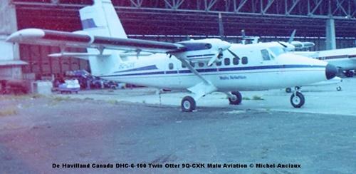 img872 De Havilland Canada DHC-6-100 Twin Otter 9Q-CXK Malu Aviation © Michel Anciaux