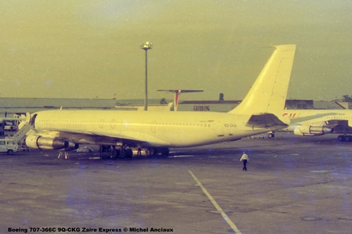 img878 Boeing 707-366C 9Q-CKG Zaire Express © Michel Anciaux