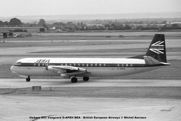 img932 Vickers V.953 Vanguard G-APEN BEA - British European Airways © Michel Anciaux