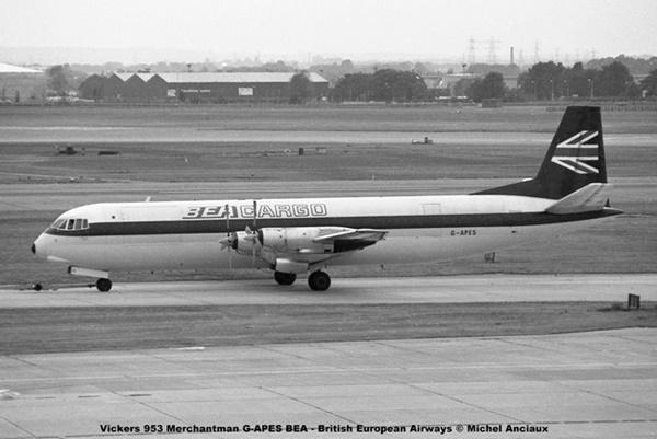 img936 Vickers V.953C Merchantman G-APES BEA - British European Airways Cargo © Michel Anciaux