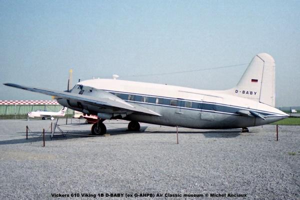 img950 Vickers 610 Viking 1B D-BABY (ex G-AHPB) Air Classic museum © Michel Anciaux