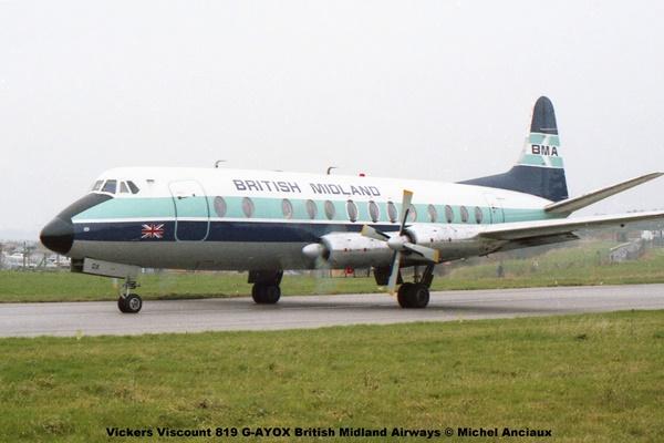 img951 Vickers Viscount 819 G-AYOX British Midland Airways © Michel Anciaux