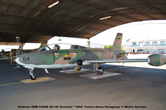 001 Embraer EMB-326GB (AT-26 Xavante) ''1004'' Fuerza Aérea Paraguaya © Michel Anciaux