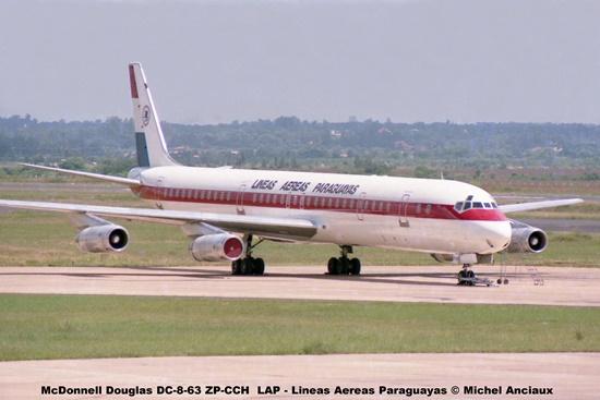 001 McDonnell Douglas DC-8-63 ZP-CCH LAP - Lineas Aereas Paraguayas © Michel Anciaux