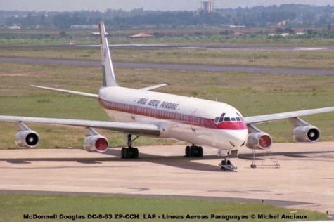 002 McDonnell Douglas DC-8-63 ZP-CCH LAP - Lineas Aereas Paraguayas © Michel Anciaux