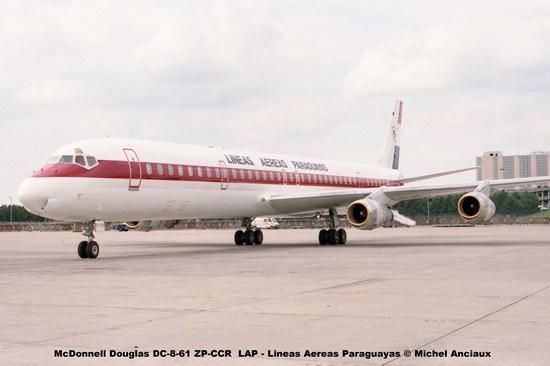 006 McDonnell Douglas DC-8-61 ZP-CCR LAP - Lineas Aereas Paraguayas © Michel Anciaux