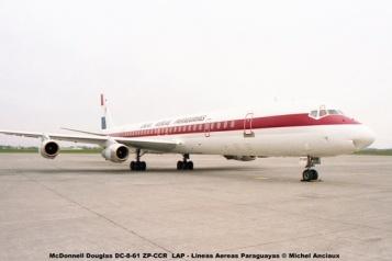 008 McDonnell Douglas DC-8-61 ZP-CCR LAP - Lineas Aereas Paraguayas © Michel Anciaux