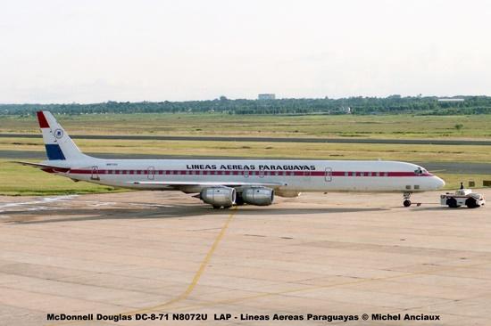 013 McDonnell Douglas DC-8-71 N8072U LAP - Lineas Aereas Paraguayas © Michel Anciaux