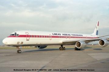 016 McDonnell Douglas DC-8-71 N8079U LAP - Lineas Aereas Paraguayas © Michel Anciaux