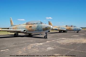 019 Embraer EMB-326GB (AT-26 Xavante) ''1007'' & ''1010'' Fuerza Aérea Paraguaya © Michel Anciaux