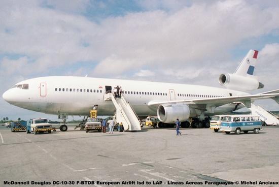 09 McDonnell Douglas DC-10-30 F-BTDB European Airlift lsd to LAP - Lineas Aereas Paraguayas © Michel Anciaux