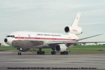 13 McDonnell Douglas DC-10-30 PP-VMX LAP - Lineas Aereas Paraguayas © Michel Anciaux