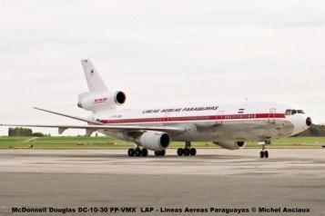 14 McDonnell Douglas DC-10-30 PP-VMX LAP - Lineas Aereas Paraguayas © Michel Anciaux