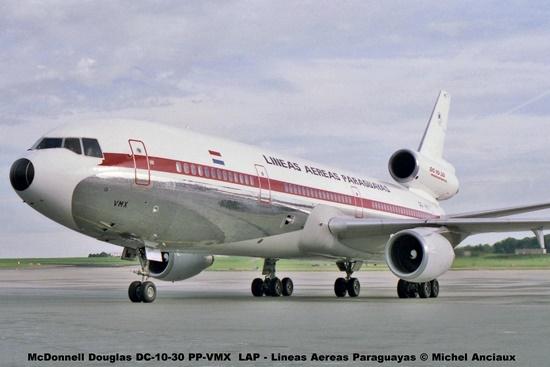 15 McDonnell Douglas DC-10-30 PP-VMX LAP - Lineas Aereas Paraguayas © Michel Anciaux