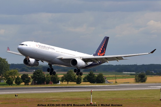 DSC_0434 Airbus A330-343 OO-SFG Brussels Airlines © Michel Anciaux
