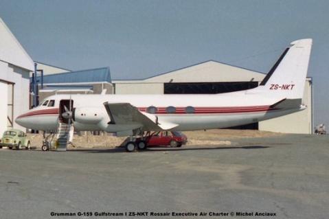 img1060 Grumman G-159 Gulfstream I ZS-NKT Rossair Executive Air Charter © Michel Anciaux