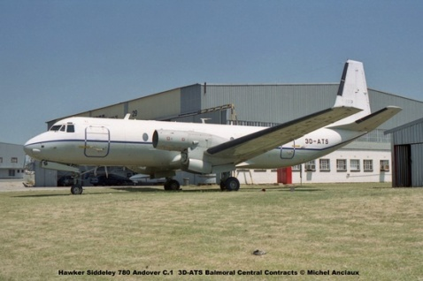 img1075 Hawker Siddeley 780 Andover C.1 3D-ATS Balmoral Central Contracts © Michel Anciaux