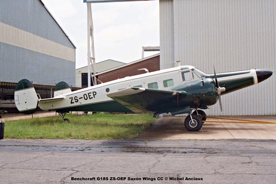 img1248 Beechcraft G18S ZS-OEP Saxon Wings CC © Michel Anciaux