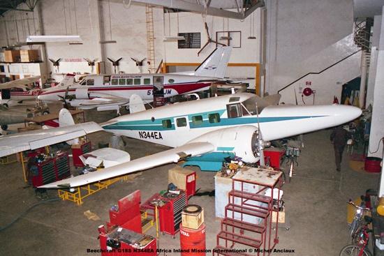 img1250 Beechcraft G18S N344EA Africa Inland Mission International © Michel Anciaux