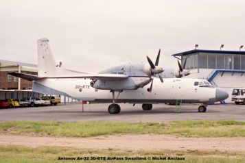 img1253 Antonov An-32 3D-RTE AirPass Swaziland © Michel Anciaux