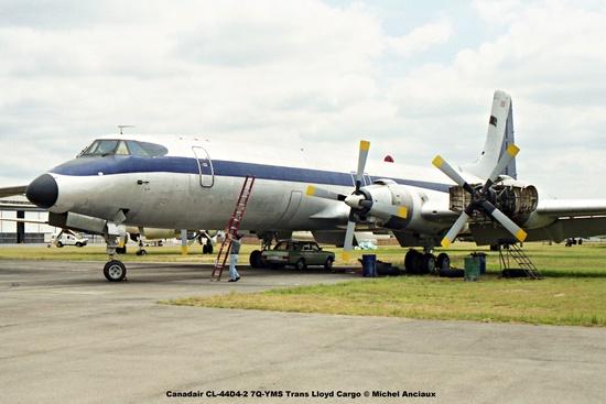 img1304 Canadair CL-44D4-2 7Q-YMS Trans Lloyd Cargo © Michel Anciaux