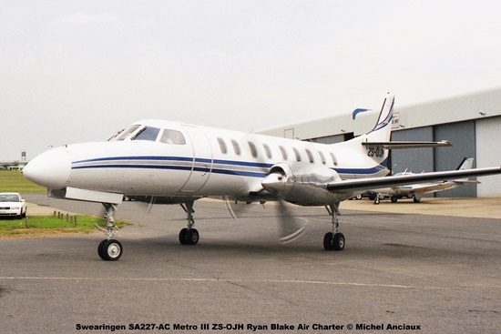 img1465 Swearingen SA227-AC Metro III ZS-OJH Ryan Blake Air Charter © Michel Anciaux