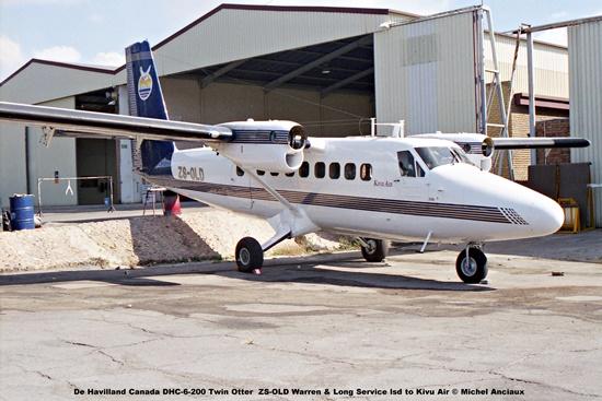 img1947 De Havilland Canada DHC-6-200 Twin Otter ZS-OLD Warren & Long Service lsd to Kivu Air © Michel Anciaux