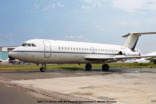 img1978 BAC 111-201AC 9XR-RA Rwanda Government © Michel Anciaux