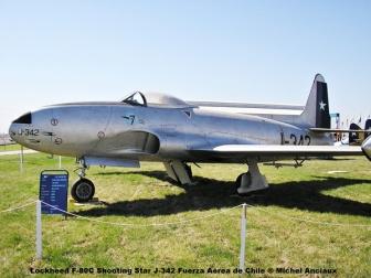 img364 Lockheed F-80C Shooting Star J-342 Fuerza Aérea de Chile © Michel Anciaux