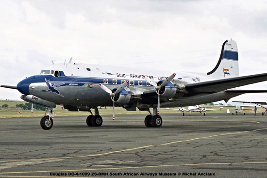 img998 Douglas DC-4-1009 ZS-BMH South African Airways Museum © Michel Anciaux