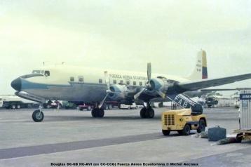 img622 Douglas DC-6B HC-AVI (ex CC-CCG) Fuerza Aérea Ecuatoriana © Michel Anciaux