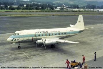img623 Vickers 745D Viscount N7428 Airworld of Houston lsd to SAN Servicios Aereos Nacionales © Michel Anciaux